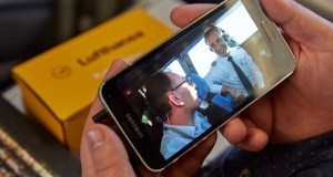 Videointerview im Cockpit eines A319 der Lufthansa