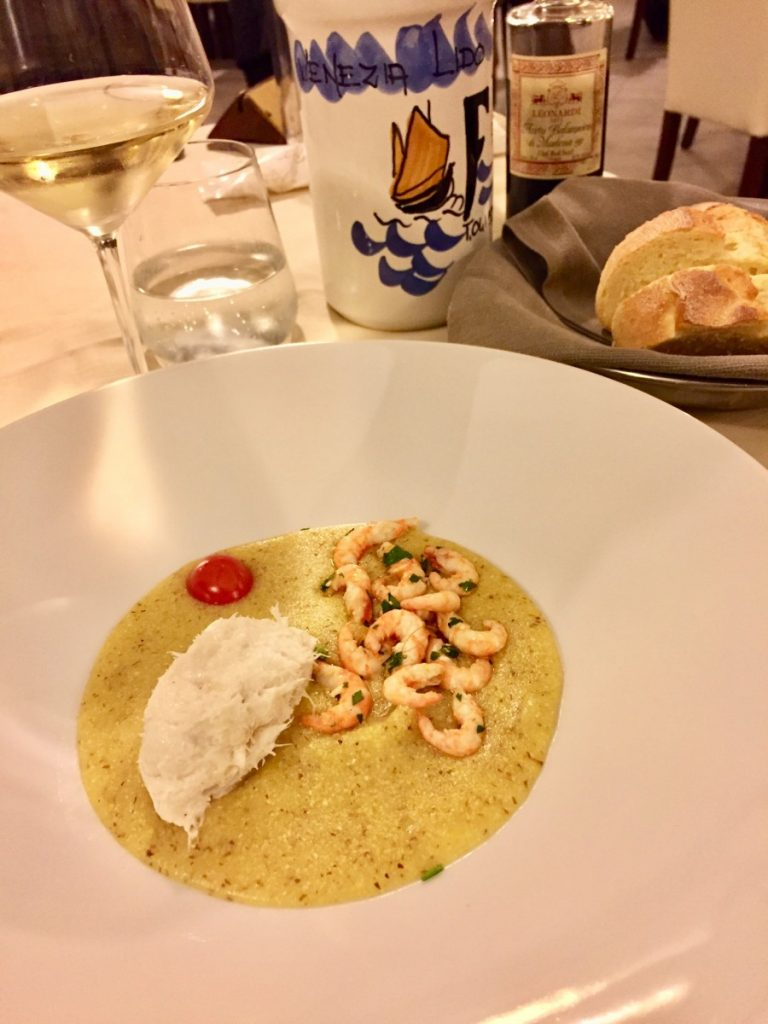 shrimps with polenta