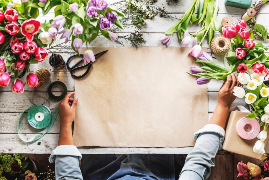 Flower arranging hobby