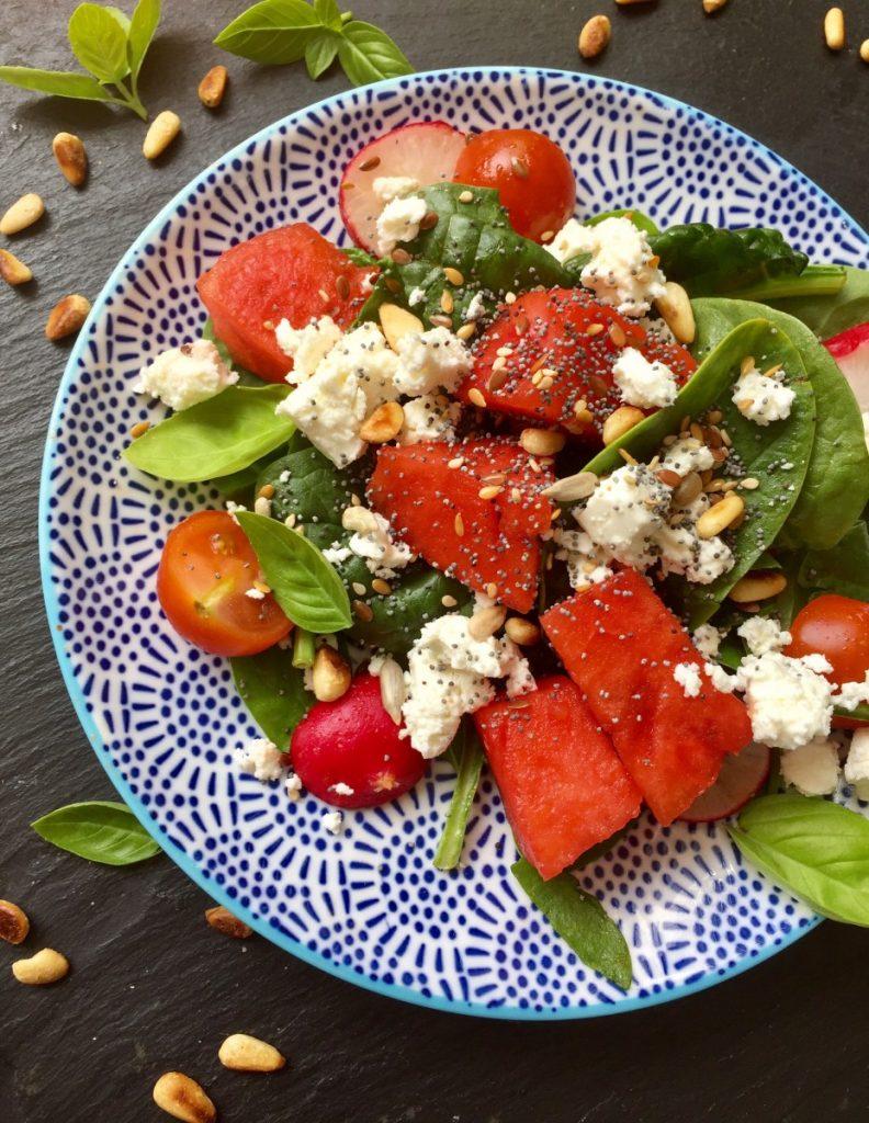 spinach watermelon salad