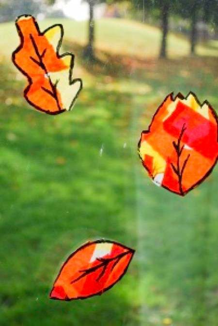 leaf sun catcher