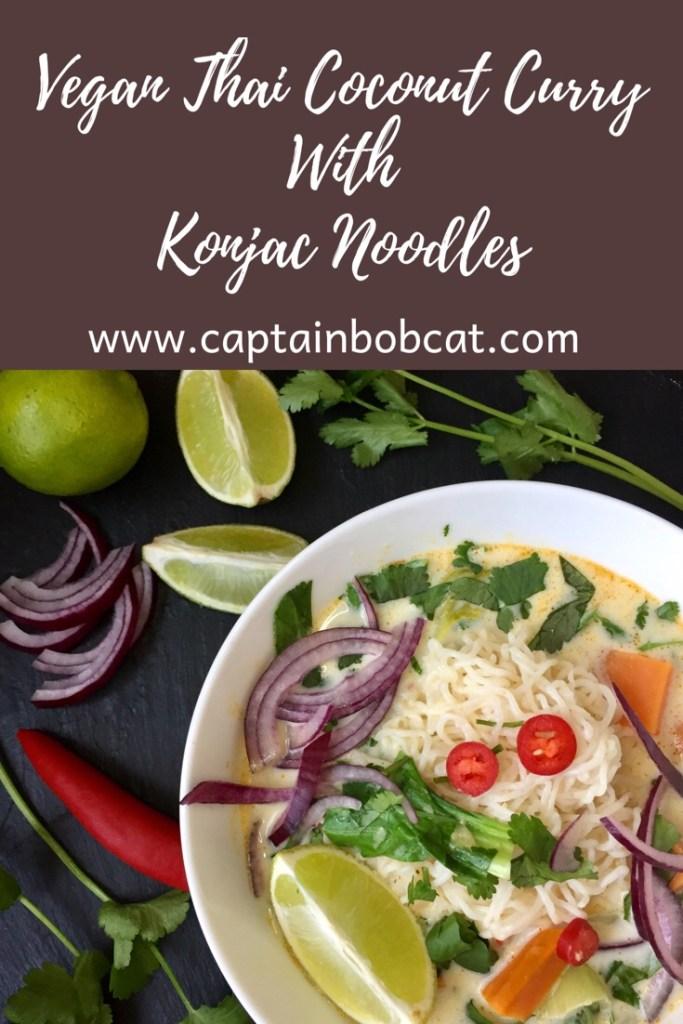 Vegan Thai Coconut Curry with Konjac noodles