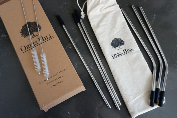 orbis hill stainless steel straws