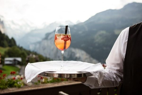 waiter drink restaurant