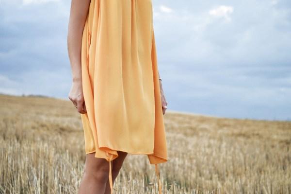 yellow dress fashion