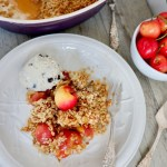 reduced sugar cherry crumble