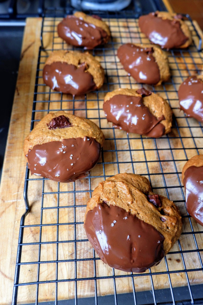 chocolate sweet potato cookies