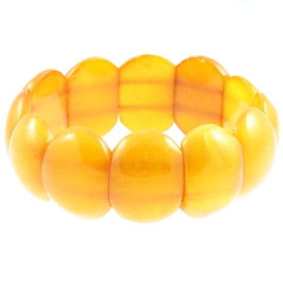 Amber-nugget-stretch-bracelet