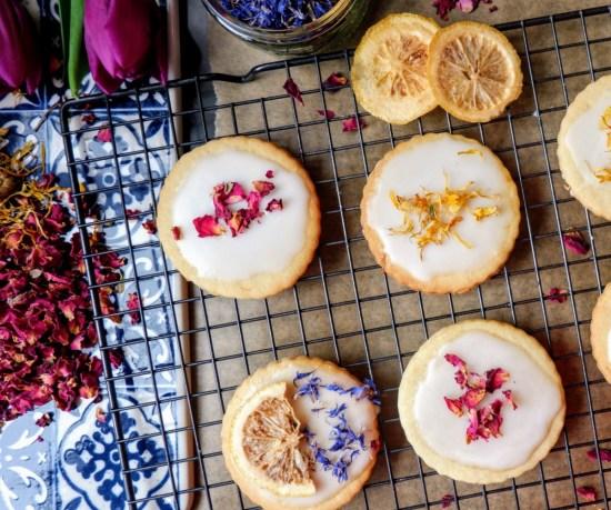 vegan lemon vanilla biscuits