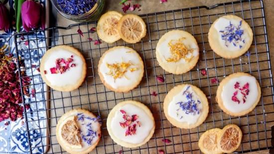 vegan lemon biscuits