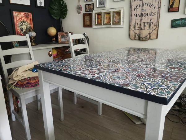 upcycled dinner table