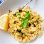 lemon courgette risotto