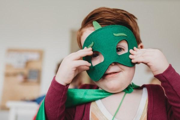 superhero mask child dressing up