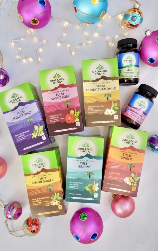 Organic India Teas. Ethical Christmas Stocking Fillers.
