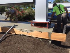 concrete sign base repair 2