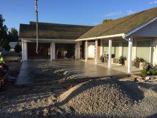 Concrete driveway in Aldergrove