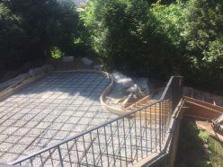 Multi-level concrete patio prep in Chilliwack, BC.