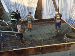 Pouring concrete retention tank - stillwood, Chilliwack