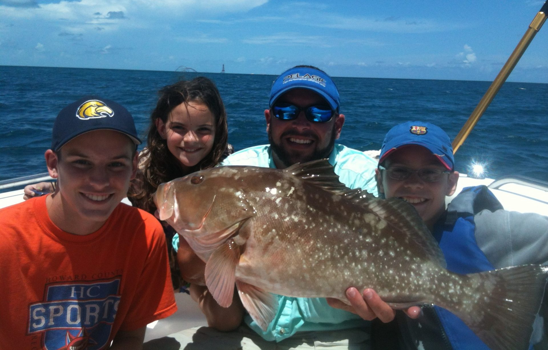 Yellowtail snapper charter off Marathon provides large red grouper.