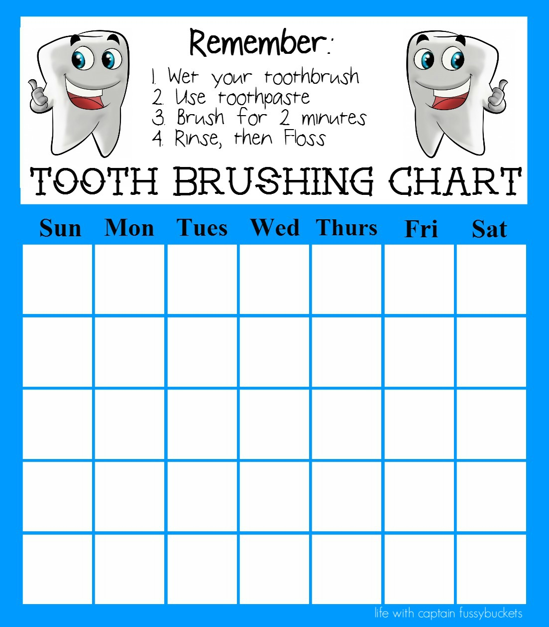Tooth Brushing Chart Archives