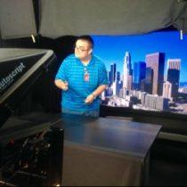Jaime posing for me – CNN studios LA Bureau