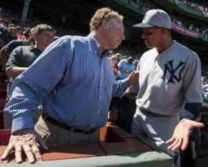 Randy Levine and Alex Rodriguez in friendlier times.