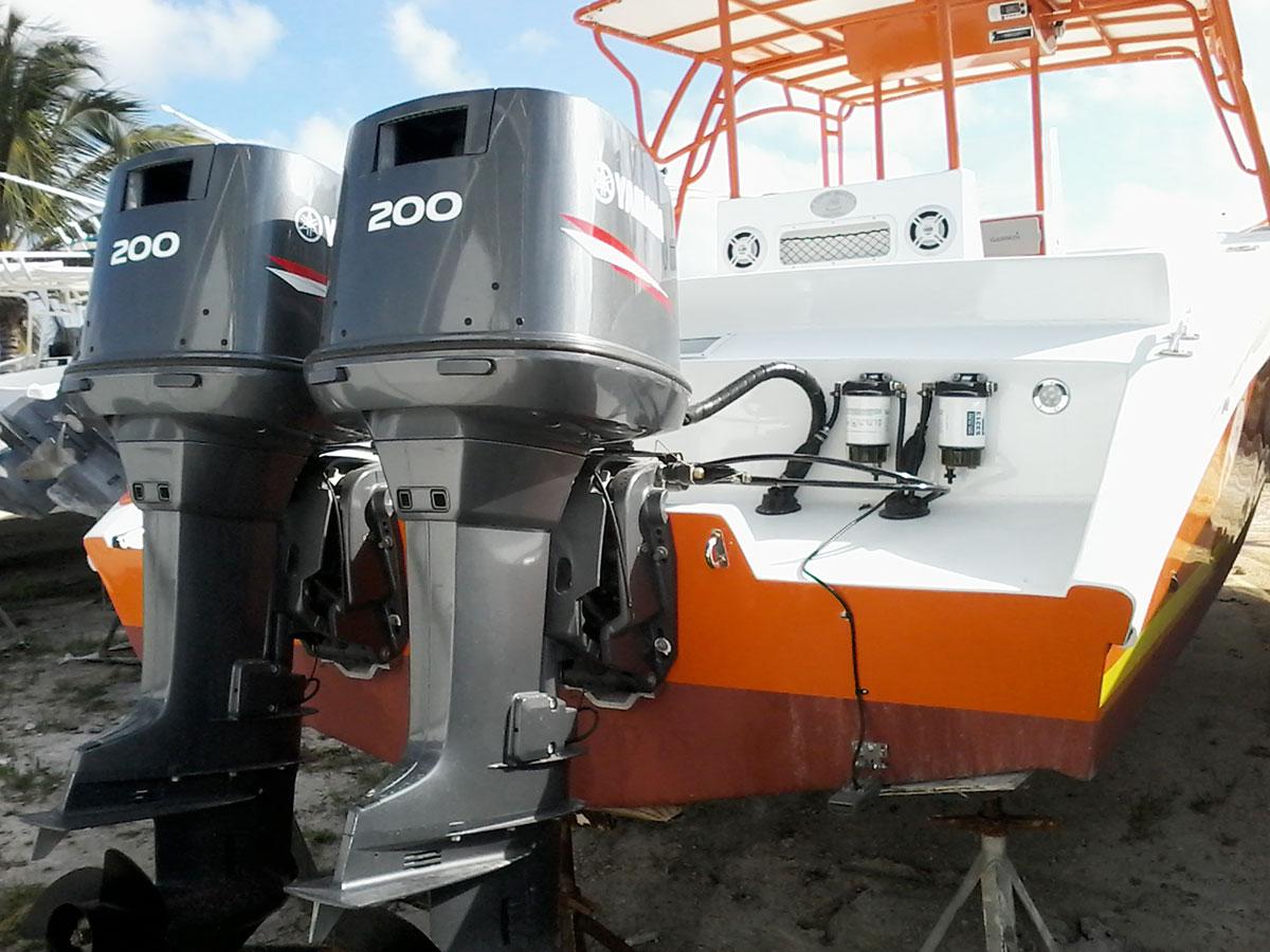 Dorado 34ft Boat Orange at Captain Sharks