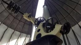"""Montura ecuatorial del refractor de 16"""". Foto: Gustavo Sánchez."""
