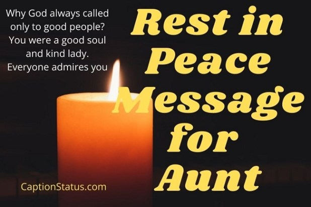 Rest in Peace Message for Aunt