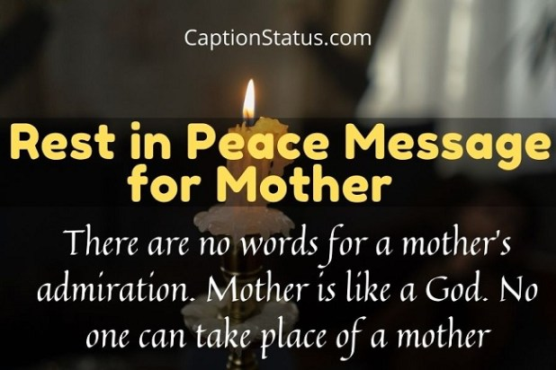 Rest in Peace Message for Mother