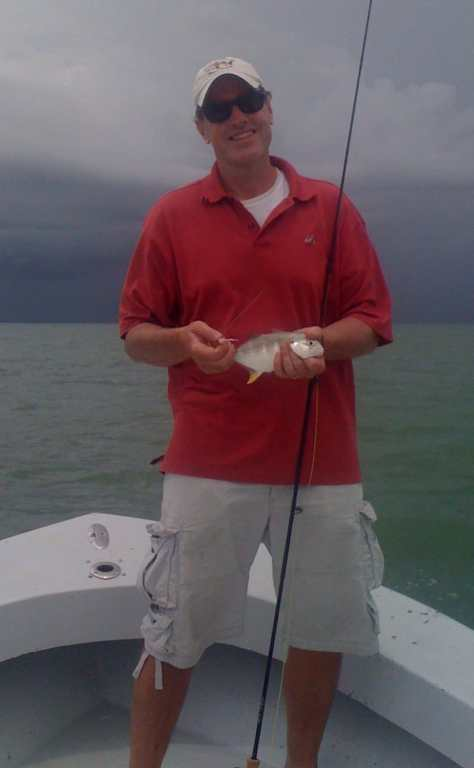 Jack Caught On A Fly, Sanibel Fishing & Captiva Fishing, Sanibel Island, Sunday, September 24, 2017.
