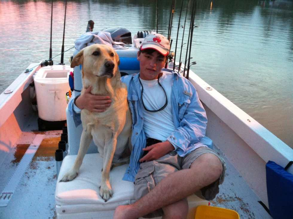 Hank & Charlie, after a long but good day of fishing, Sanibel & Captiva Fishing Charters.