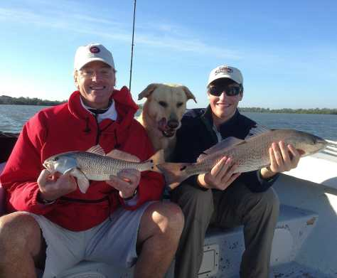 Charlie, Hank, Tim, Redfish, Off Blind Pass, Thanksgiving Week, 2012, Sanibel & Captiva Islands Charters & Fishing Guide Service.