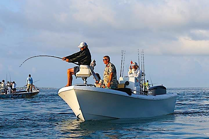 BIg fish fight during the PTTS, Sanibel & Captiva Islands & Fort Myers Charters & Fishing Guide Service.