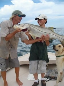 Charlie & Very Big Snook, Sanibel & Captiva Islands & Fort Myers Charters & Fishing Guide Service.