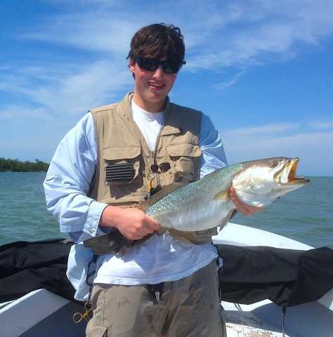 Charlie, Big Sea Trout, 3-2-14, Sanibel & Captiva Islands & Fort Myers Charters & Fishing Guide Service.