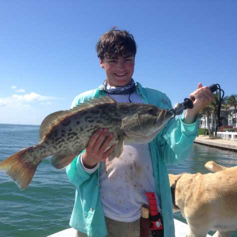 Grouper, 7-13-14, Sanibel & Captiva Islands & Fort Myers Charters & Fishing Guide Service.