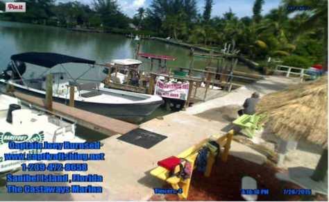 Castaways Marina Live Web Cam, Sanibel Fishing & Captiva Fishing, Tuesday, 7-28-15 ~ #Sanibel #Captiva.