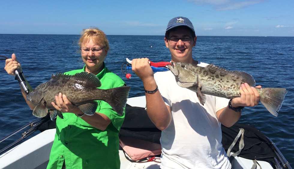 Pam & Bradley, Catch & Release Grouper, Sanibel Fishing & Captiva Fishing, Wednesday, 2-24-16 ~ #Sanibel #Captiva.