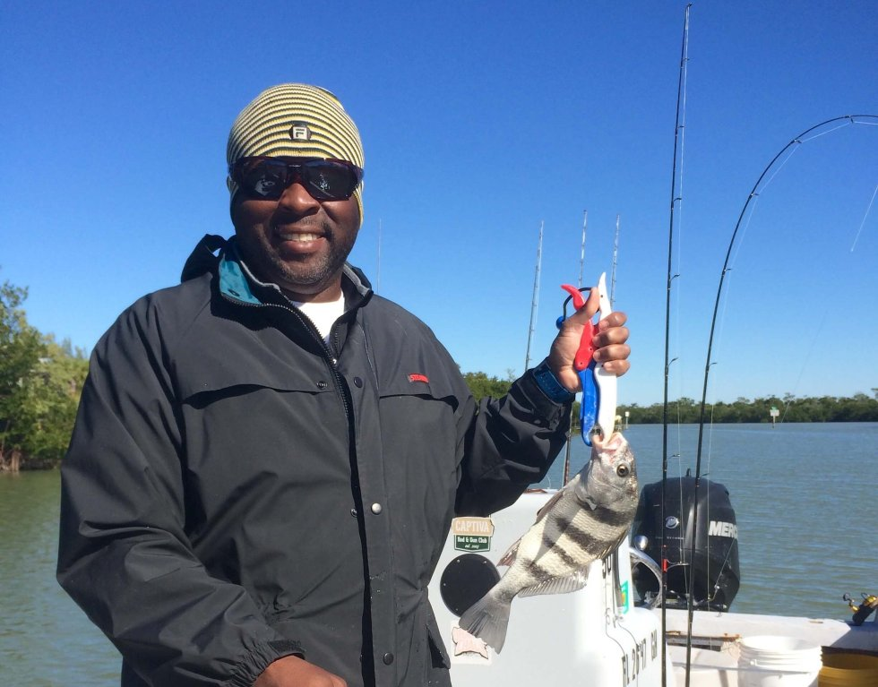 Sheepshead, Sanibel Fishing & Captiva Fishing, Sanibel Island, Monday, November 21, 2016.