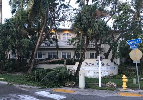 Hurricane Irma. Andy Rosse Lane, Captiva Village, Captiva Island. About 6:00 AM E, Hurricane Irma, Sanibel & Captiva, Update, September 11, 2017.