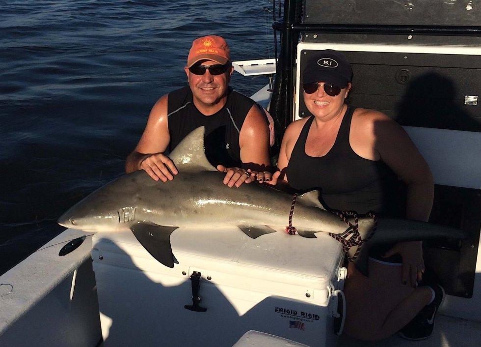 Bull Shark, Catch & Release, Sanibel Fishing & Captiva Fishing, Sanibel Island, Tuesday, November 7, 2017.