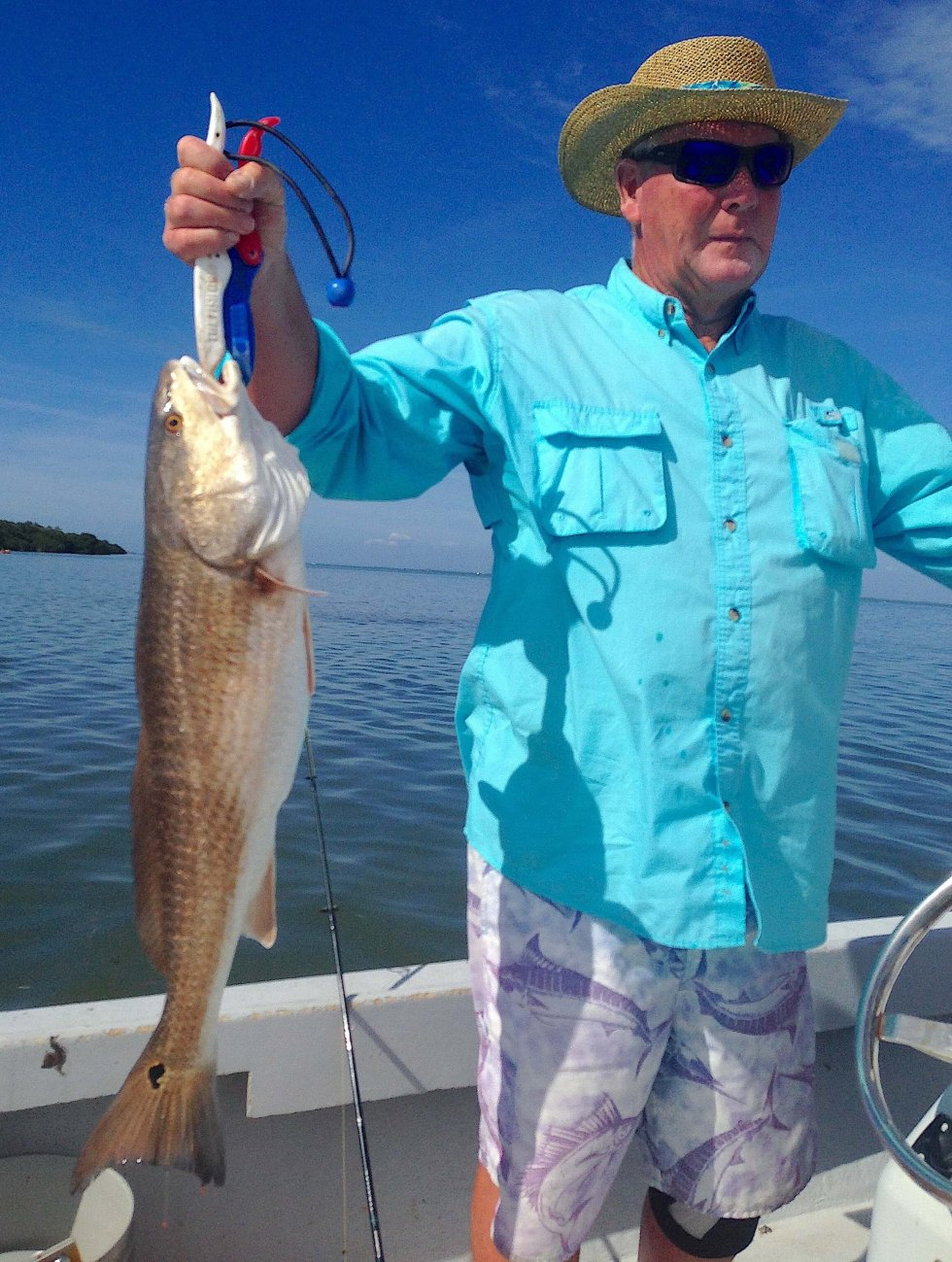 Nice Redfish, Thanksgiving Fishing, Catch & Release, Sanibel Fishing & Captiva Fishing, Sanibel Island, Thursday, November 23, 2017 [File Photo - March 1, 2017].