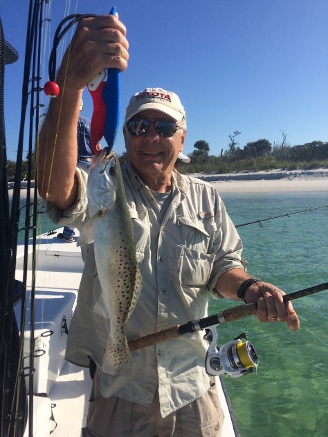 SeaTrout, Grass Beds & Oyster Bars, Catch & Release, Sanibel Fishing & Captiva Fishing, Sanibel Island, Friday, February 16, 2018.