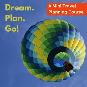 """Does a dream vacation seem impossible? Getting started with planning that """"once-in-a lifetime"""" trip is a daunting venture. There are so many questions to answer and what feels like a zillion details to finalize. Will it really be worth all the money, effort and stress? Even with the internet & Facebook communities, there can be so much overwhelm. With you in mind, I put together a mini travel planning course. Dream. Plan. Go!"""