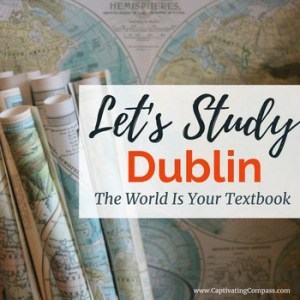 Maps woth text overlay. 'Let's Study Dublin, the world is your textbook.