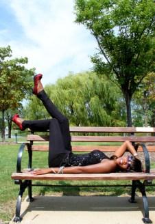 feet,heels, park, bench, model, shoes