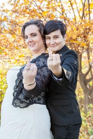 Wedding Bride LGBT Gay Rings