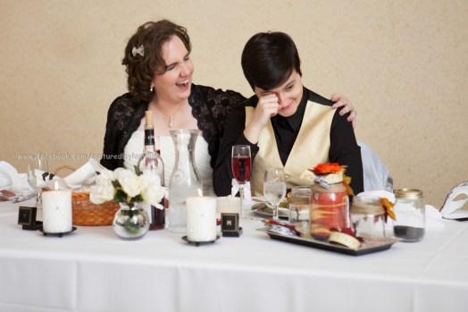 Wedding Bride LGBT Gay Fall Speech Toast