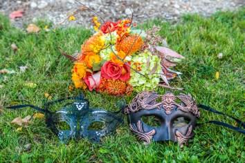 Fall Wedding Flower Mask